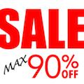 Sale Max 90% OFF! セール...